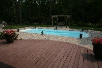 Dolphin Fiberglass Pool in Booneville, MS